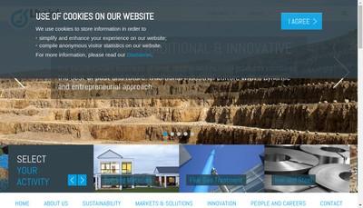 Site internet de Lhoist France Ouest