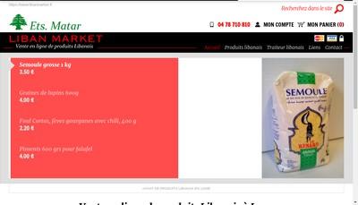 Site internet de Liban Market