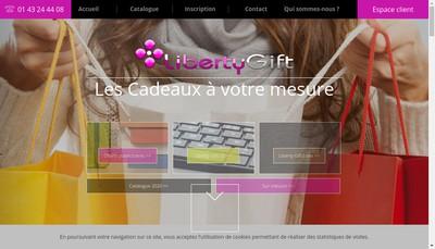 Site internet de Liberty Gift