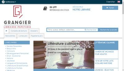 Site internet de Librairie Grangier