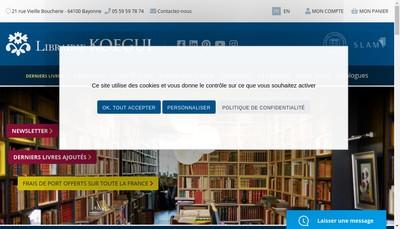 Site internet de Librairie des Pyrenees