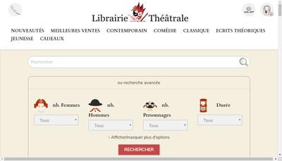 Site internet de Librairie Theatrale