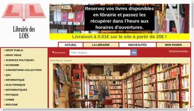 Site internet de La Librairie des Lois