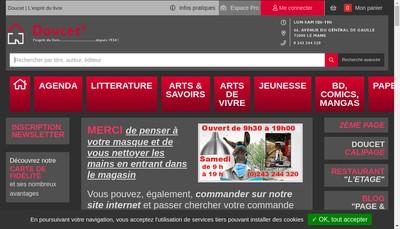 Site internet de Galeries du Livre Doucet