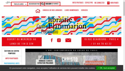 Site internet de Librairie Flammarion