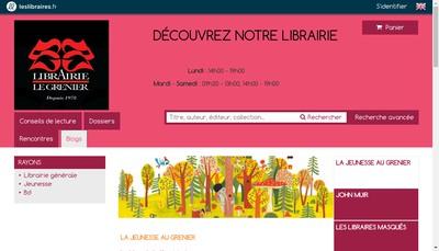 Site internet de Librairie le Grenier