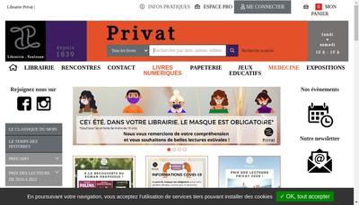 Site internet de Librairie Privat