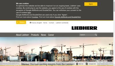 Site internet de Liebherr-Components Colmar SAS