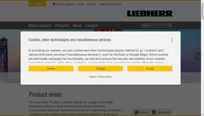 Site internet de Liebherr-France