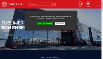 Site internet de Light Air Rhone Enseigne
