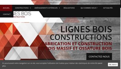 Site internet de Lignes Bois Constructions