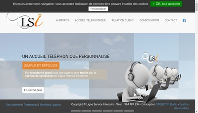 Site internet de AAA Interprim' - Ligne Service Interprim