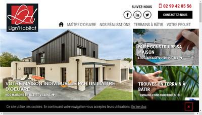 Site internet de Lign'Habitat