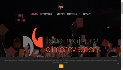 Site internet de Ligue Majeure d'Improvisation