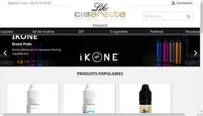 Site internet de Like Cigarette