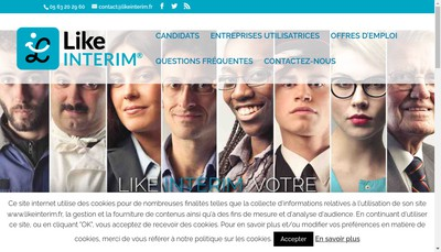 Site internet de Like Interim
