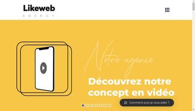 Site internet de Likeweb Agency