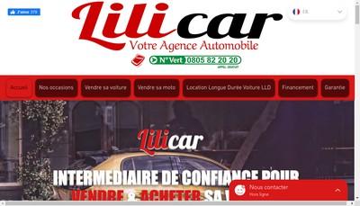 Site internet de Lilicar