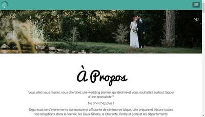 Site internet de Lilie Creatrice de Vos Evenements