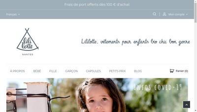 Site internet de Lililotte
