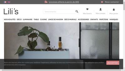 Site internet de Lili'S