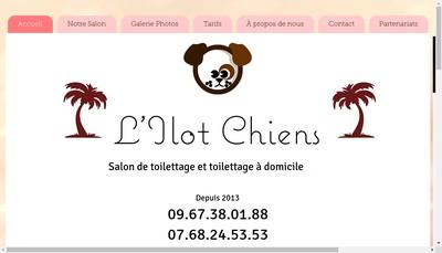 Site internet de L'Ilot Chiens