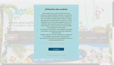 Site internet de L'Ilot Kids