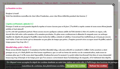 Site internet de Lilou Framboise