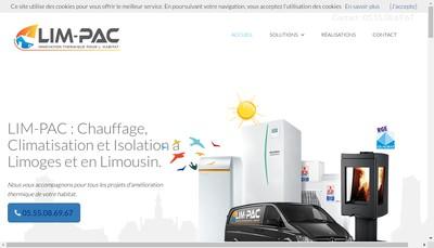 Site internet de Lim-Pac