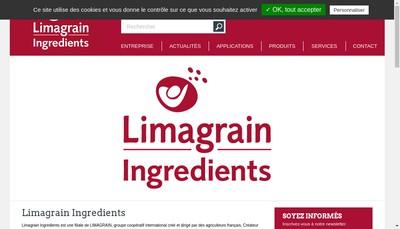 Site internet de Limagrain Ingredients