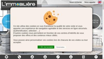 Site internet de L'Immobiliere Guignard