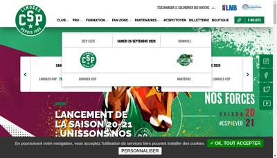 Site internet de Limoges Csp Sasp