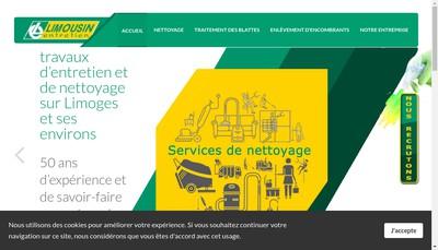Site internet de Limousin Entretien