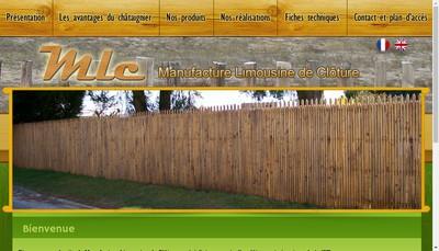 Site internet de Manufacture Limousine de Cloture