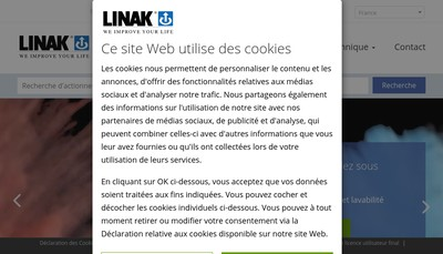 Site internet de Linak