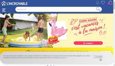 Site internet de L'Incroyable