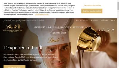Site internet de Lindt et Sprungli