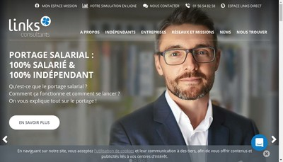 Site internet de Links Consultants