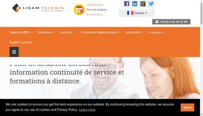 Site internet de Lisam Telegis