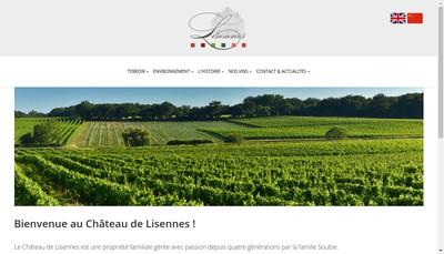 Site internet de Les Vins de Lisennes SARL