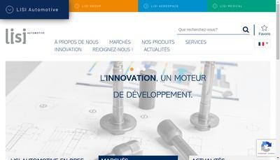Site internet de Lisi Automotive Former
