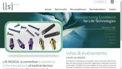 Site internet de Lisi Medical Fasteners