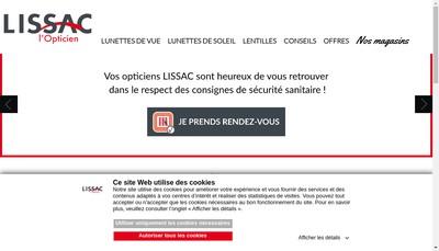 Site internet de Lissac Opticiens