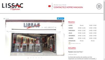Site internet de Lissac Opticien