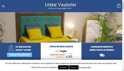 Site internet de Literie Valentin