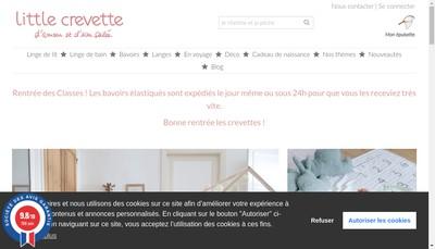 Site internet de Little Crevette