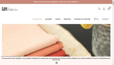 Site internet de Little Fabrics