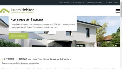 Site internet de Littoral Habitat