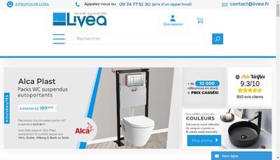 Site internet de Livea Sanitaire