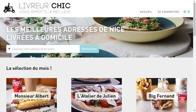 Site internet de Livreur Chic